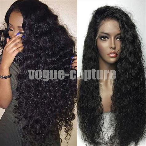 simple and versatile african hair style brazilian full lace front wigs with baby hair glueless