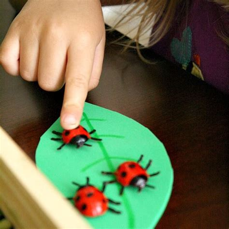 Ashlee Practices Counting by Ladybug Math