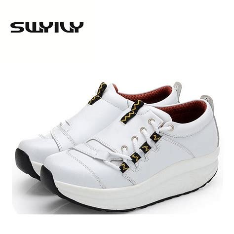 Sneakers Wedges 5cm 1 5 5cm thick soles toning shoes autumn wedge platform loss weight slimming sneakers