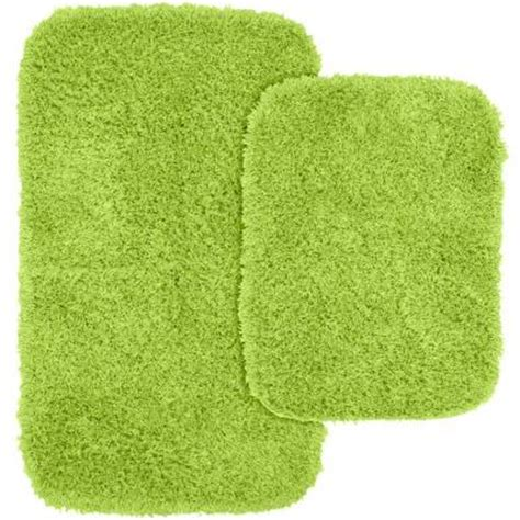 Lime Green Bathroom Rugs Garland Rug Jazz Lime Green 21 In X 34 In Washable Bathroom 2 Rug Set Ben 2pc 12 The