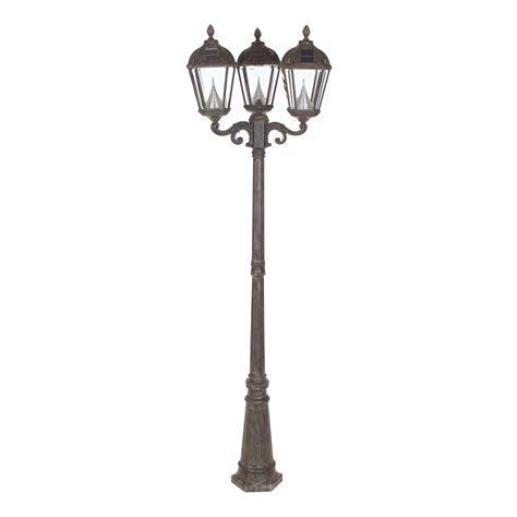 Gama Sonic Royal Triple Light Solar L Post Solar Post Solar Light Post