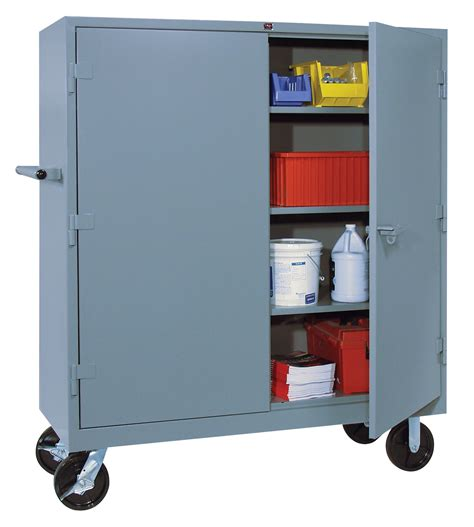 mobile metal storage cabinet lyon heavy duty storage cabinets