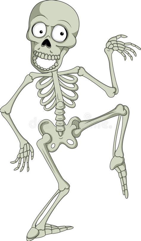 clipart divertenti di scheletro umano divertente fumetto