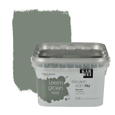 karwei montageservice karwei kleuren van nu muurverf mat leemgroen 2 5 l