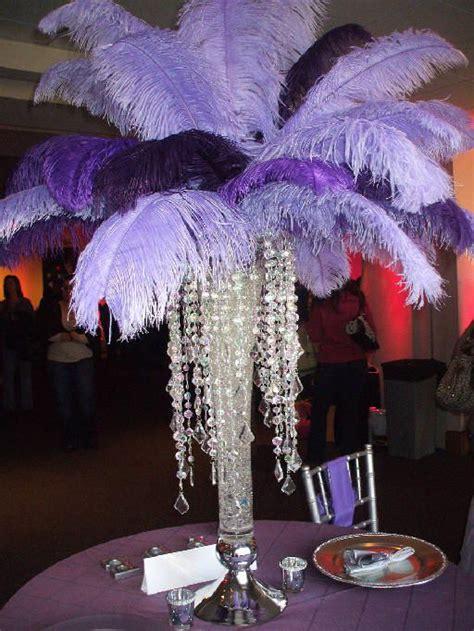 wholesale wedding centerpieces purple ostrich feathers