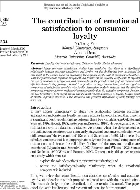 research paper on satisfaction pdf customer satisfaction research papers