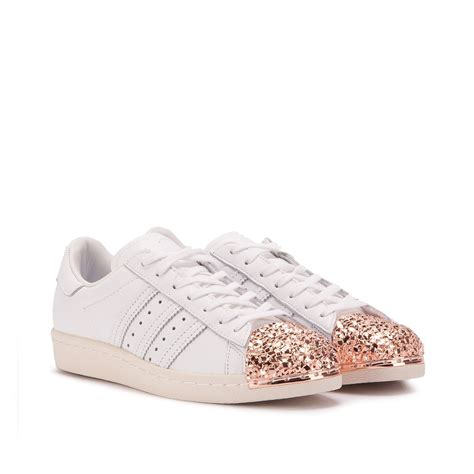 adidas superstar   metal toe  white copper bb