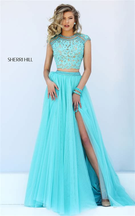 2016 homecoming dresses sherri hill 50110 lace two piece