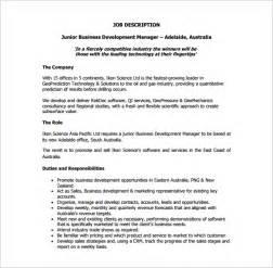 Business Manager Job Description Template 10 Business Development Job Description Templates Free