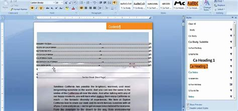 Change Table Style Word 2007 How To Modify Table Of Content Styles In Microsoft Word 2007 171 Microsoft Office