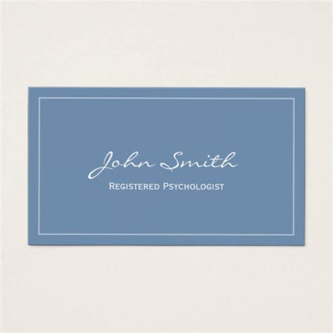 psychologist business card templates free simple blue registered psychologist business card zazzle