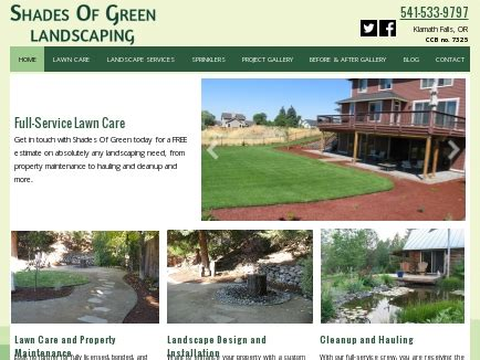 shades of green landscaping klamath falls or