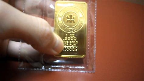 How To Make A Gold Bar Out Of Paper - review royal canadian mint certified gold bar 1 oz 1oz