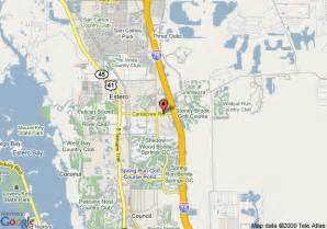 map of hton inn suites ft myers estero fl estero