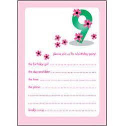 10 childrens birthday invitations 9 years bpif 22 pink ebay