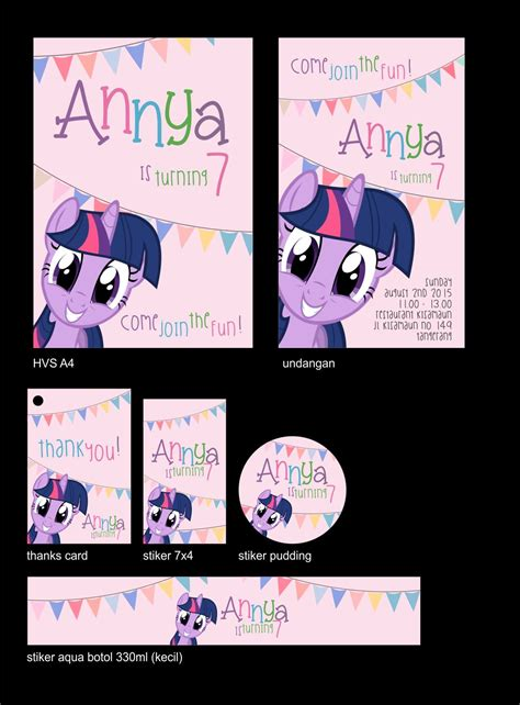 Tas Ulang Tahun Tema Princess ataro designs desain ulang tahun anak tema my pony