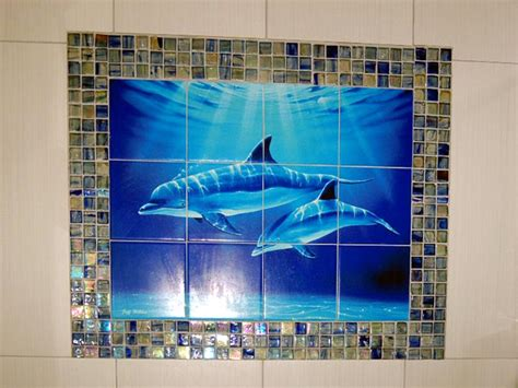 Bathroom Dolphin by Dolphin And Whale Bathroom Tile Ideas Dolphin Dive