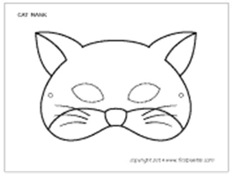 cat mask template cat mask printable templates coloring pages