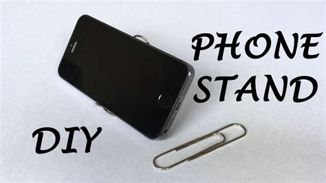 How To Make A Paper Phone Easy - how to make a phone stand out of a paper clip dr hacker