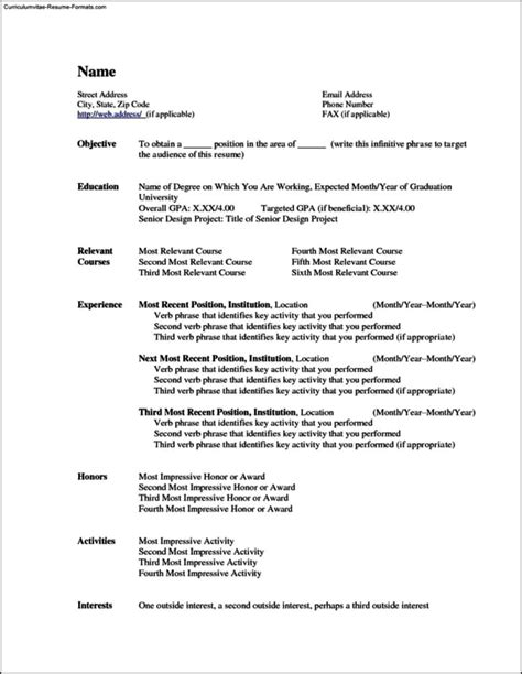 completely free resume templates totally free resume template free sles exles