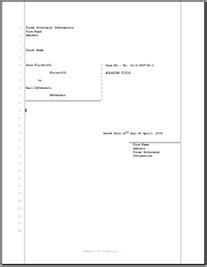 legal pleading template for civil court filings 28 lines