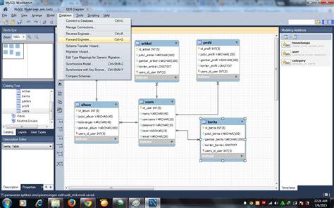 cara membuat erd dengan workbench membuat entity relationship diagram erd menggunakan
