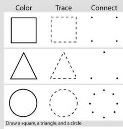 draw shapes practice drawing shapes preschool activities