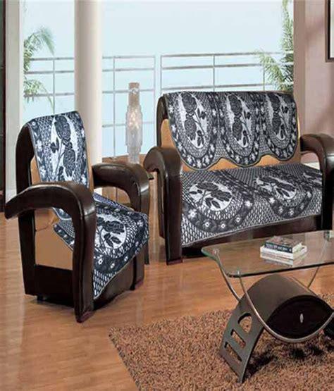 black floral sofa handloomwala black floral 5 seater sofa cover set buy