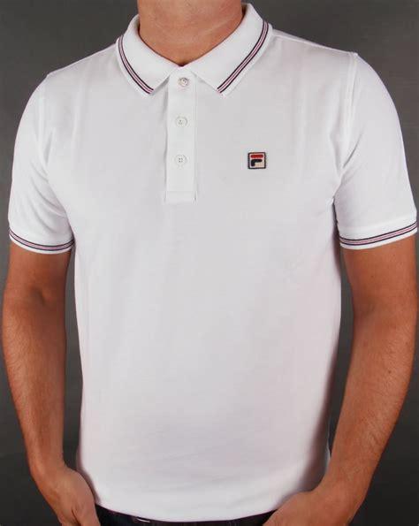 fila vintage matcho 3 polo shirt white classic mens