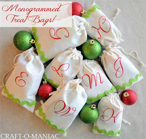 diy monogrammed treat bags christmas gift idea craft o