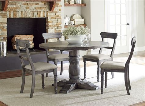 Grey Dining Room Table Sets Muses Dove Grey Muses Dining Room Set From Progressive Furniture Coleman Furniture