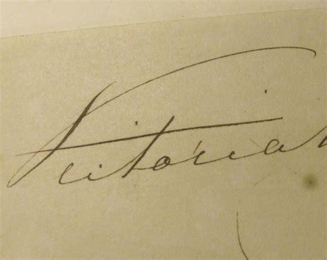 queen victoria signature autograph of queen victoria from collistonandcompany on