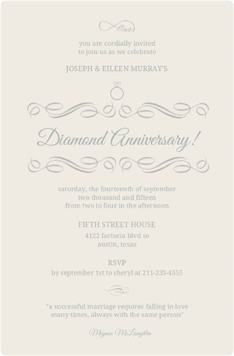 wedding anniversary invitation wording ideas anniversary invitation wording 15th 20th 30th 35th