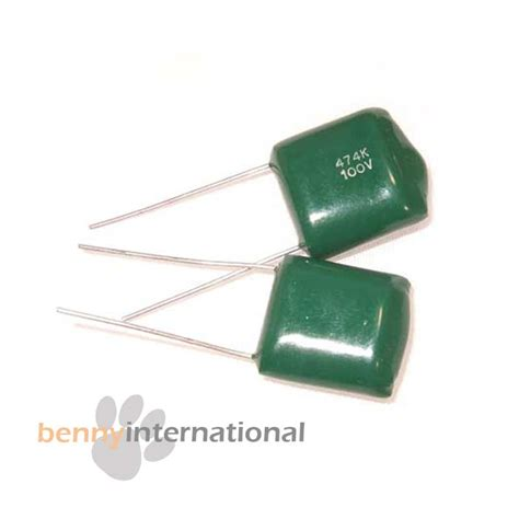 green polyester capacitor 10x 0 47uf 100v capacitors polyester green caps ebay