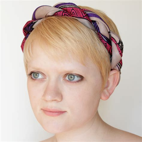 how to turn a scarf into a headband without destroying it