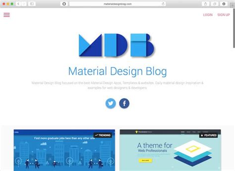 material design blog layout 24 amazing web design blogs you should follow in 2016