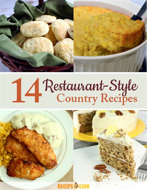 country recipes quot 14 restaurant style country recipes quot ecookbook