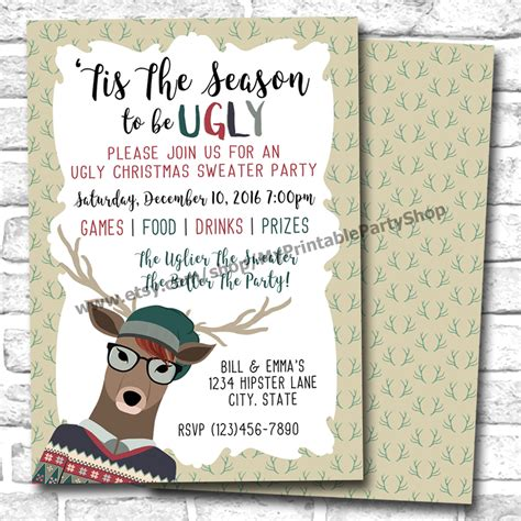 sweater invitations sweater invitations glitter n spice