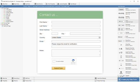 forms design software arclab 174 web form builder html contact form software for pc