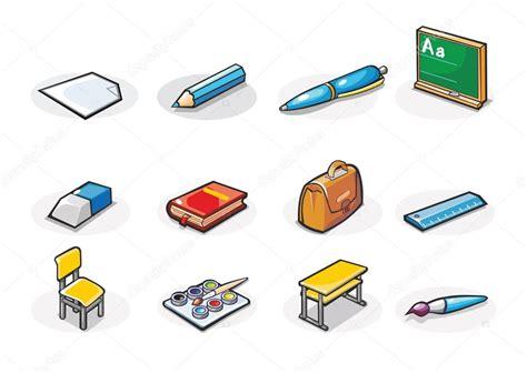 imagenes de objetos de utiles escolares iconos de vector de 250 tiles escolares ilustraci 243 n de