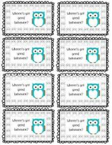 1000 ideas about behavior punch cards on pinterest
