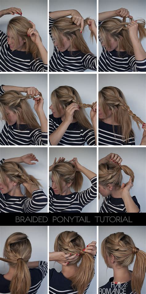cool ponytail hairstyles step by step easy braided ponytail hairstyle how to hair romance