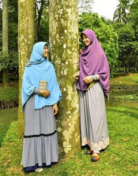 cara memakai jilbab cantik modern trendi dan syar i tips cantik dan anggun memakai baju gamis syar i modern