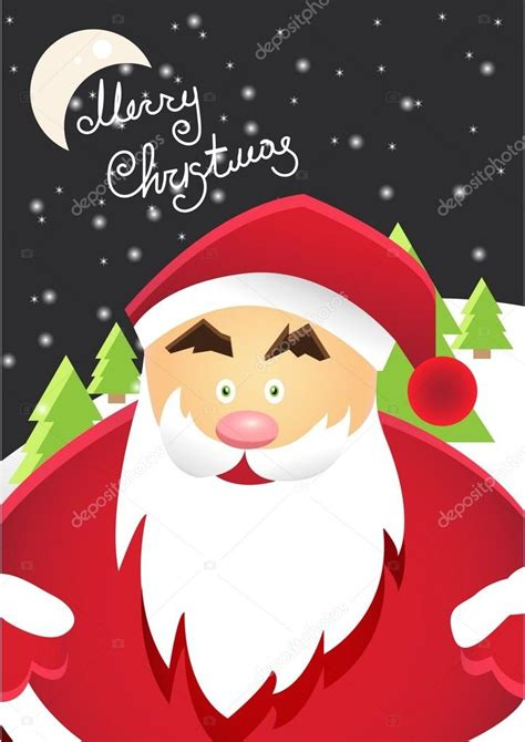Santa Claus Merry 2 santa claus with merry label for