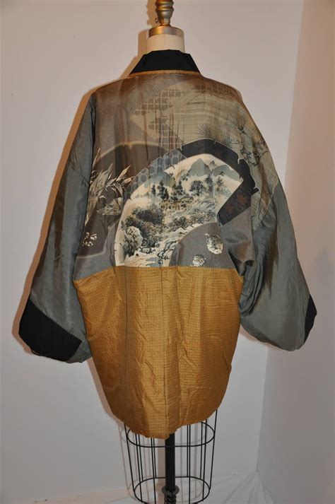 Japanese Quilted Jacket by Quilted Silk Japanese Kimono Jacket With Japanese