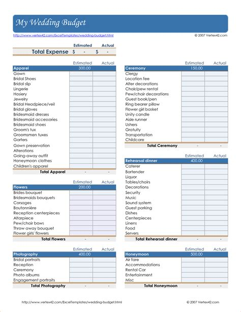 Printable Wedding Budget Spreadsheet by 5 Wedding Budget Worksheet Procedure Template Sle