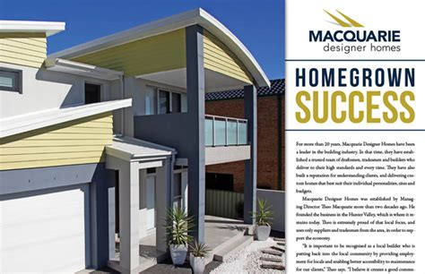 macquarie designer homes business world international