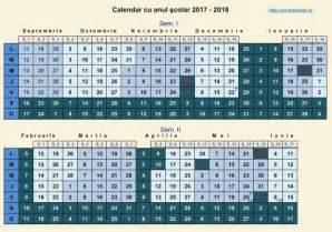 Calendar 2018 Aprilie Calendar Cu Anul şcolar 2017 2018 De A Valma