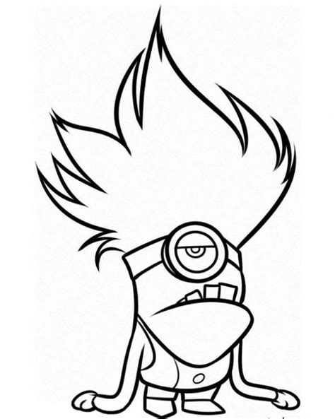 Purple Minion Coloring Page evil purple minions coloring printables coloring pages