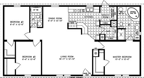1200 sq ft house plans 1200 square foot open floor plans imperial imp 45211b manufactured home floor plan
